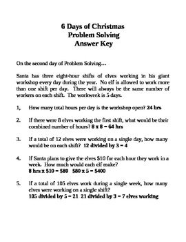 6 Days of Christmas Problem Solving