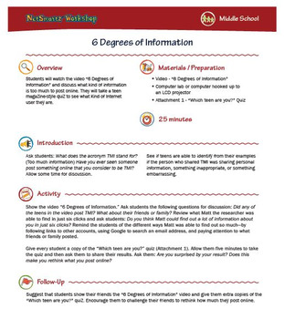 6 Degrees of Information; Leaving a Digital Trail