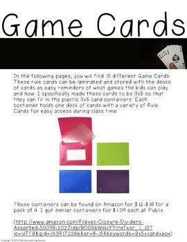 6 Different Decks of Math Cards!