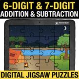 6 Digit & 7 Digit Addition & Subtraction Digital Math Jigs