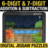6 Digit & 7 Digit Addition & Subtraction Digital Math Jigs