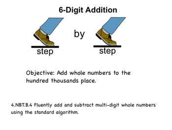 SmartBoard 6-Digit Addition: Step by Step