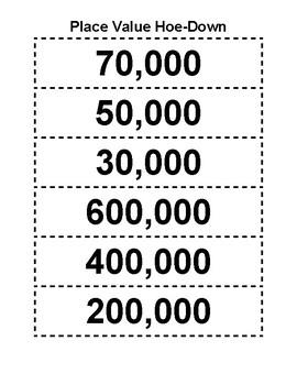 6-Digit Place Value Hoe-Down (Single Class Activity)