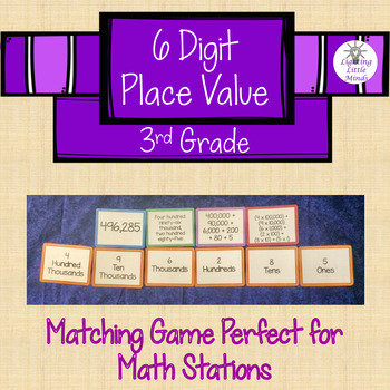 6-Digit Place Value Matching Game