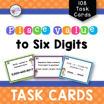 6 Digit Place Value Task Cards