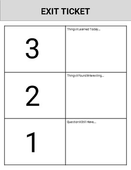 6 Digital Exit Tickets & 20 Printable Exit Tickets
