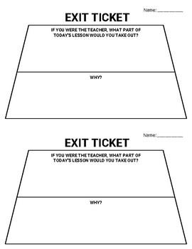 6 Digital Exit Tickets & 20 Printable Exit Tickets