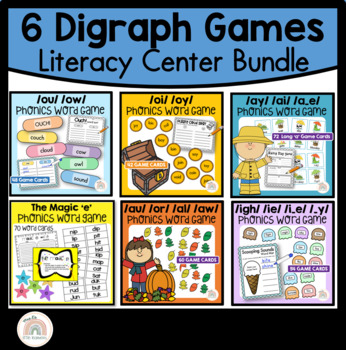 6 Digraph Phonics Literacy Game - Mega Bundle