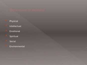 6 Dimensions of Wellness PowerPoint