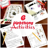 6 Diphthong Activities For AU, AW, OI, OU, OU, OW, OO & EW