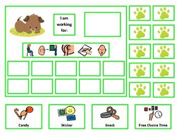 6 Dog Token Board Bundle with Behavior Visuals - 10 Token