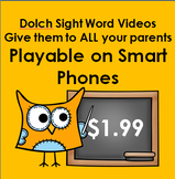 6 Dolch Sight Word Videos MP4 Files