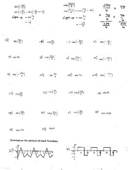 6+ Double Sided Unit Circle Exact Value Periodic Functions Circular Function