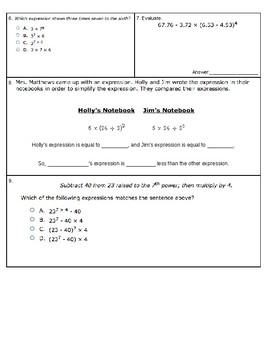 6.EE.1 Quiz