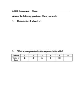 6.EE.2 Math Assessment