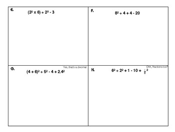 6.EE.2 Solve These Expressions