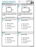6.EE.3 Equivalent Algebraic Perimeter, Properties, and expressions.