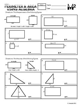 6.EE.3 Perimeter & Area Using Algebra