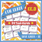 6.EE.3 Task Cards: Generate Equivalent Expressions, 6.EE.3 Centers