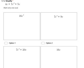 6.EE.3 and 6.EE.4 Simplify Expressions (a Google Form)