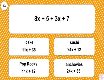 6.EE.4 Printable Mad Lib Math (Identify Equivalent Expressions)