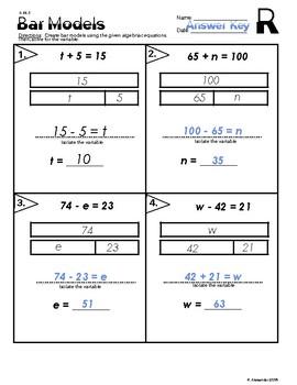 6.EE.5 Bar Models for Algebraic Equations.