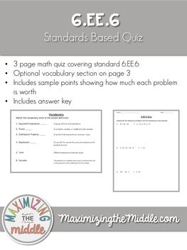 6.EE.6 Quiz