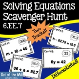 6.EE.7 Solving Equations Scavenger Hunt