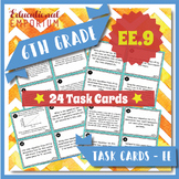 6.EE.9 Task Cards: Real World Dependent and Independent Variables 6.EE.9 Centers