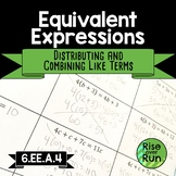 6.EE.A.4 Equivalent Expressions, Distributive Property and Combining Like Terms