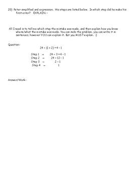 6.EEI. 1 - Order of Operations & Exponents Practice