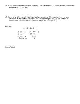 6.EEI. 1 - Order of Operations & Exponents Practice