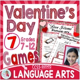 Valentine's Day ELA Games Middle & High School ♥ Idioms Summary Literary Devices