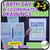 Earth Day Math Activity Coordinate Drawing Task Cards