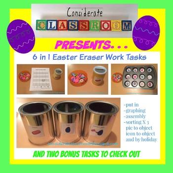 6 Easter Work Task Printables