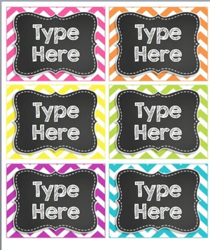 6 Editable Chevron Tags/ Labels- OrGaNiZe!!