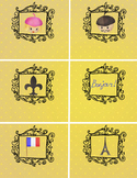 6 Editable Labels - Paris, France themed - classroom organ