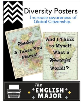 6 Engaging Reading Posters - Global Citizenship & Diversity