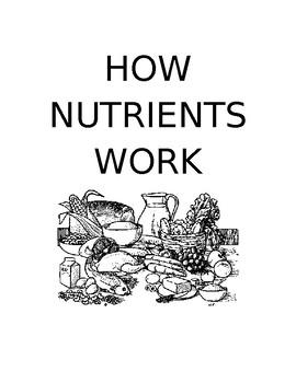 6 Essential Element/Nutrients Powerpoint Notetaking Worksheets