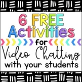 6 FREE Activities for Video Chat Meetings {Zoom, Google Me