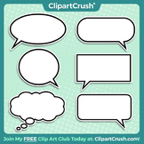 Royalty Free Comic Style Word Balloons Clipart Bubbles!