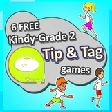 6 FREE Kindergarten - Grade 2 PE Sport lesson Tip & Tag Elementary Games