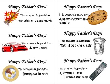 6 Father's Day Coupons