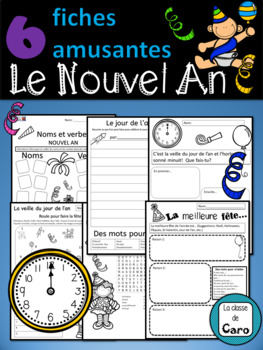 6 Fiches amusantes - Le Nouvel An  - (New Years) - (French - FSL)