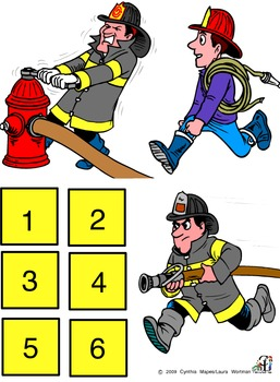 6 Firefighters Standing In A Row