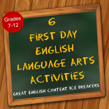 6 First Day English Language Arts Activities