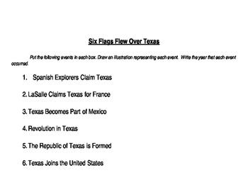 6 Flags Over Texas Comic Strip