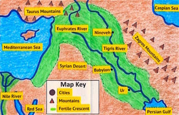 Foldable Maps Ancient Mesopotamia Egypt Greece Rome India China - Egypt and rome map