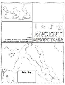 Foldable Maps Ancient Mesopotamia Egypt Greece Rome India China - Map of egypt and mesopotamia