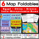 6 Map Foldables: Ancient Mesopotamia, Egypt, Greece, Rome,